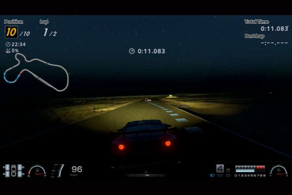 Vožnja po noći - linija idealne putanje jako pomaže