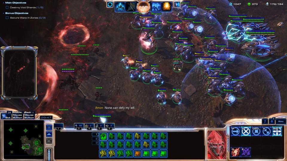 Iako sav taj kaos djeluje kompleksno, igra protiv AI-a je itekako pristupačna. Normal težina je ponovno iznimno lagana, dok Casual praktički se odigrava sama. Tek na Hard težini počinje se pokazivati prava dinamika StarCrafta.