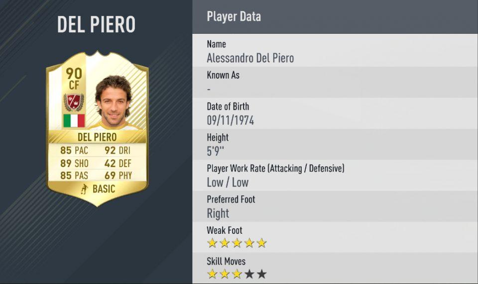 Del Piero FIFA