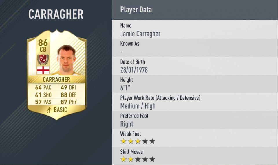Jamie Carragher FIFA