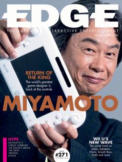 Naslovnica novog broja časopisa Edge s Miyamotom