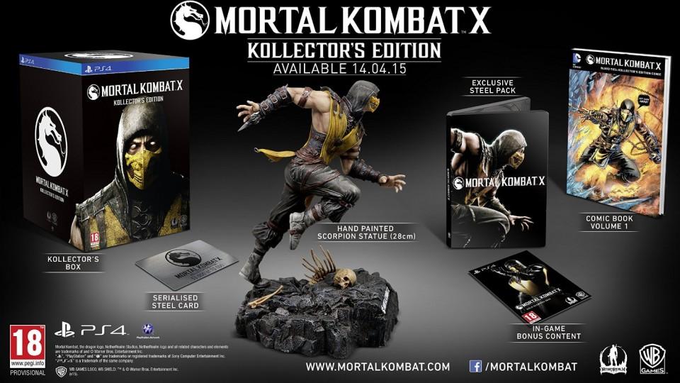 Mortal Kombat Kollektor's Edition PS4 sadrzaj